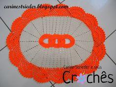 Carine Strieder e seus Crochês: Tapete elos entrelaçados de crochê