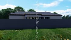 3 Bedroom House Plan MLB 008.1S - My Building Plans South Africa My House Plans, Bedroom House Plans, My Building, Building Plans, Architect Fees, Guest Toilet, Construction Drawings, Double Garage, Open Plan Living