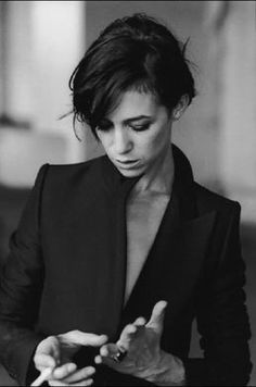 Charlotte Gainsbourg by Peter Lindbergh.