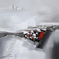 Rouge on pinterest for Tableau abstrait gris et rouge