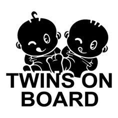 Twins On Board Car Sticker – all4twins    #twins  #baby  #cute