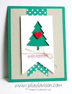 Stampin' Up! Peaceful Pines Christmas Card 2016-2018 In Color: Emerald Envy…