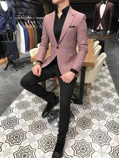 Terziademaltun talyan stil erkek slim fit blazer pembe tek ceket the 10 best dressed men of the week Blazer Outfits Men, Mens Fashion Blazer, Suit Fashion, Fashion Outfits, Men's Outfits, Urban Outfits, Classy Outfits, Casual Outfits, Mode Masculine