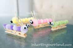Caterpillar Clothespin Kids Craft