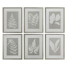 Moonlight Ferns 6-piece Framed Wall Art Set