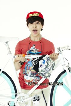 Sandeul-hats on ad.