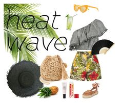 """""""Heat Wave"""" by emma-sparks ❤ liked on Polyvore featuring Zimmermann, Miguelina, Emma Mulholland, Hat Attack, heatwave, keepitcool and summer2017"""