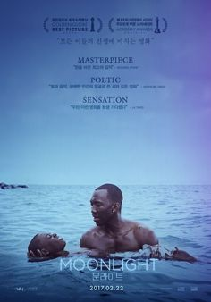 Moonlight 2016 Movie Poster /  written and directed by Barry Jenkins / Moonlight received critical acclaim upon its release. At the 74th Golden Globe Awards it won Best Motion Picture – Drama and was nominated in five other categories. The film won the Academy Award for Best Picture, along with Best Supporting Actor for Mahershala Ali and Best Adapted Screenplay for Jenkins and McCraney, from a total of eight nominations.