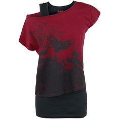 Flying Raven Double Layer - T-Shirt by Black Premium by EMP