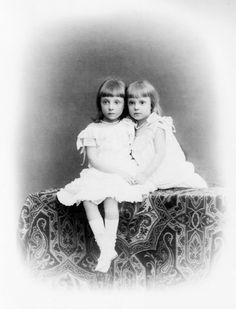 Their Royal Highnesses Infanta Mercedes of Spain, Princess of Asturias (1880-1904) and Infanta Maria Teresa of Spain (1882-1912)