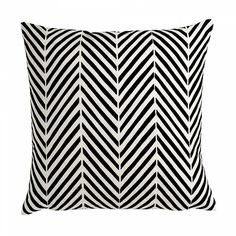 Agra Cushion Black & Soft White: This hand-drawn geometric cushion combines mid-century modern sensibilities with Eastern flair.  It works very well on it's own, or perfectly with all other cushions in the collection. Mix and match on your sofa, chair, or bed for a modern and colourfully designed room.  This high quality, luxury cushion is digitally printed onto 100% cotton using state of the art technology. It is backed with 100% natural cotton.