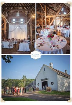 Rustic Barn Wedding in the Historic Mallet Barn at Wolfe's Neck Farm.
