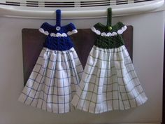Kitchen Towels, Hanging Kitchen Towels,  Set of Two Towels - Ready to Ship - pinned by pin4etsy.com