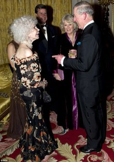 The Duchess, Camilla Duchess of Cornwall and Prince Charles at the Prince's Foundation for Children and the Arts charity gala at Buckingham Palace in 2011