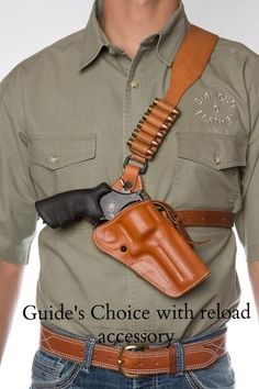 Guide's Choice™ Leather Chest Holster, the ULTIMATE gun holster | Diamond D Custom Leather | Handmade Leather Holsters #gunholster