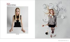 Lottie Moss Gets Whimsical for Red Valentino F/W 2014 Ads