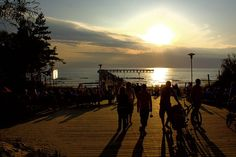 Sunset on the Baltic Sea in Palanga, Lithuania