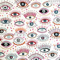 Peppy Pattern and Design #mystical #allseeingeye