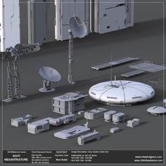 Find your Grapfix Desire With US Architecture Portfolio, Architecture Plan, Sci Fi Environment, Air Conditioning Units, Matte Painting, Futuristic Architecture, City Buildings, Building Design, Concept Art
