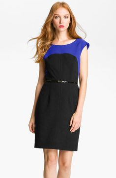 Calvin Klein Colorblock Belted Sheath Dress available at #Nordstrom