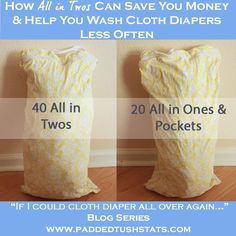 Families who are cloth diapering twins (or simply have more than one child in cloth diapers at a time!) quickly realize that you have to wash your diapers frequently. Here is a simple tip for the best type of diaper to buy that will save you money (and let you do laundry less often, double win!).