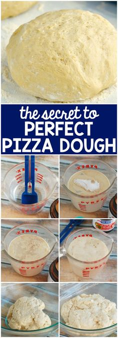 The Secret to Excellent Pizza Dough! Simple to comply with step-by-step images that offers you the right pizza dough! Perfect Pizza Dough Recipe, Pizza Recipes, Cooking Recipes, Skillet Recipes, Recipe Of Bread Pizza, Dinner Recipes, Bread Recipes, Cooking Cake, Meatball Recipes
