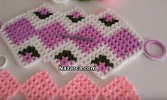 KAFESLİ ÖRNEKLİ ÇİÇEKLİ TAKIM LİF TARİFLERİ | Nazarca.com Baby Knitting Patterns, Crochet Necklace, Jewelry, Drawings, Crochet Collar, Jewellery Making, Jewerly, Jewelery