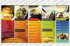 Food Menus Books Printing
