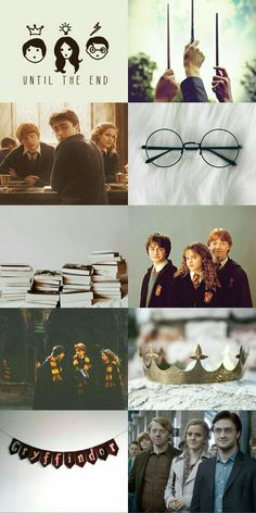 Harry Hermione and Ron aesthetic