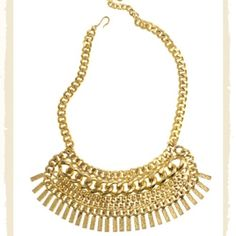 """Karen London 'Rhianna' Gold Chain Necklace Sold out! Open to fair offers. Multi-chain layered brass necklace with hammered bar accents on a 16-19"""" adjustable chain.  Approx 2 1/4"""" length x 6 1/2"""" width. Karen London Jewelry Necklaces"""