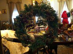 """""""Beaded Flowers"""" Wreath created by Brandy Olson, BeDe Studio"""