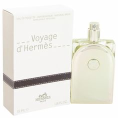 Voyage D'Hermes by Hermes Eau De Toilette Spray Refillable 1.18 oz. This is a woody musky scent from the prestigious French luxury Company. Composed by master perfumer Jean Claude Ellena, it is dynamic and transports you on a journey of the senses. The notes are redolent of foreign encounters and include cardomom,  sparkling citruses, gigner, vegetals, and exotic woods.
