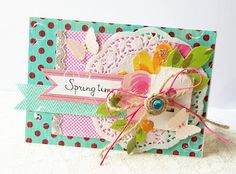 scrapbooking card,  Lilly Bee
