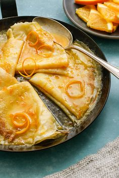 NYT Cooking: This is just one of those desserts that seem, on the page as on the plate, to be labor-intensive and tricky, but in fact are as simple to make as they are gratifying to eat. For one thing, you can make the crepes in advance Breakfast And Brunch, Breakfast Recipes, Desserts Français, Dessert Recipes, Dinner Recipes, Chefs, Patisserie Fine, Crepes And Waffles, Good Food