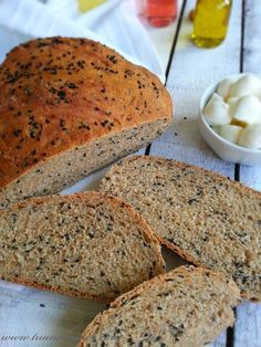 Ingredients: - 3 cups of flour - 1 cup warmer one click hot water . Easy Cake Recipes, Bread Recipes, Easy Banana Bread, Easy Bread, Tasty, Yummy Food, Ciabatta, Dessert Bread, Turkish Recipes