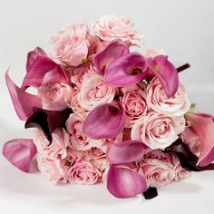 Wedding flowers in Chicago great area Florist in Arlington Heights, Palatine, IL phone: 224-409-3937  Flowers emotion by Geo Tudosescu Bridal Bouquet Pink Marsala Calla Lily Pink by FlowersEmotion