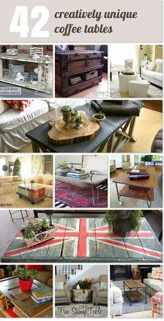 42 Creatively Unique Coffee Tables