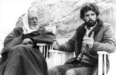 Alec Guiness y George Lucas durante el rodaje de La Guerra de las Galaxias Alec Guiness and George Lucas in Star Wars