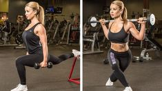 Do your bikini bottom justice with this glute-and-hamstring-building workout from an IFBB pro bikini competitor. Stretch contract and expect to feel the burn! Barbell Glute Bridge, Single Leg Deadlift, Posing Suits, Sumo Squats, Bikini Competitor, Bikini Workout, At Home Workouts, Body Workouts, Glute Workouts