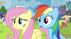 Fluttershy and Rainbow Dash double-take