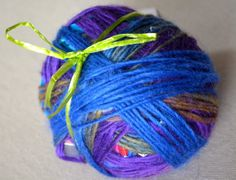 Luxury Magic Yarn Ball - A Great Gift For A Knitter - Jewel Tones - Self-Striping - Worsted Weight