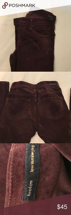 citizens of humanity avedon velvet skinny jeans maroon velvet avedon citizens of humanity low rise skinny jeans size 26 worn twice! Citizens Of Humanity Jeans Skinny