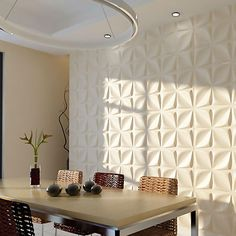 "Give your room extra depth and dimension by adding a unique 3D decorative wall covering.  EnduraWall panels brings your room to life by adding a unique design element that turns an ordinary wall into a focal point.  With dozens of designs to choose from, you can transform your room into a talking point or simply give a boring wall new life by using a design that provides subtle texture.  Higher-quality and more durable than the standard ""fiber"" wall panels, our EnduraWall panels are not only…"