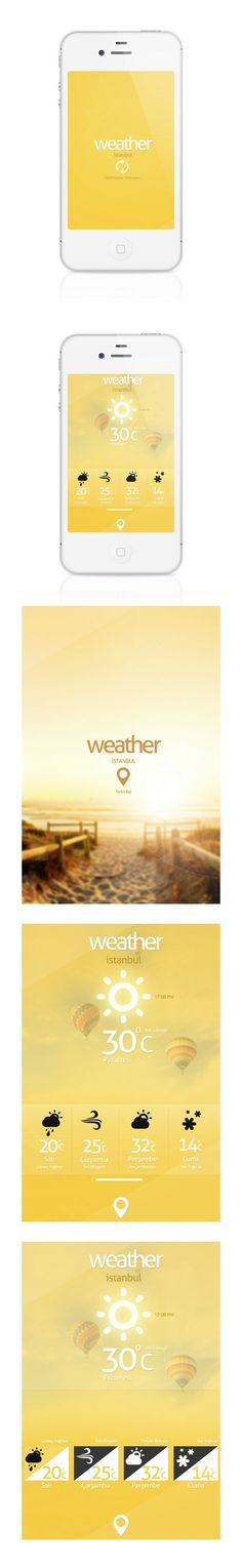 Weather App (concept) by Cüneyt SEN, via Behance