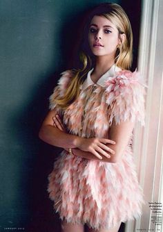 Check out this pink organza Fendi dress in the January issue of Vanity Fair my fav color in fashion this season