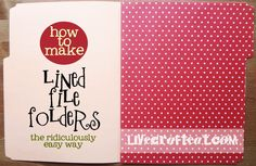 how to line a file folder title page