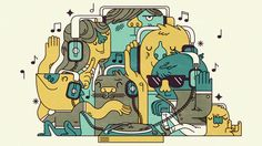 2012 Illustrations January - March by Emory Allen, via Behance
