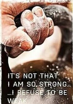 Love this. I don't really think I'm so strong and I don't exactly lift to get stronger, I lift to gain confidence
