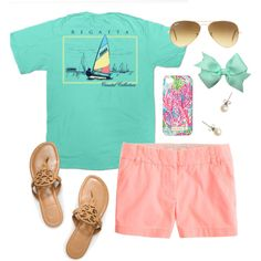 Warm Weekend by carolinejones864 on Polyvore featuring Regatta, J.Crew, Tory Burch, Lilly Pulitzer and Ray-Ban