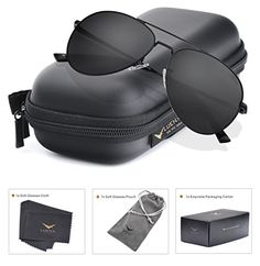 a3041774971 LUENX Aviator Polarized Sunglasses Mens with Case UV 400 Protection Metal  Frame This is ranked high among the best products in Apparel category in UK.